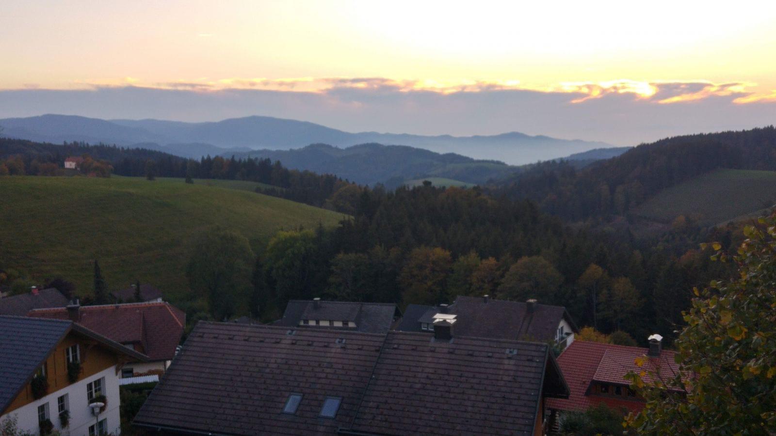 הנוף מהעיירה Sankt Margen